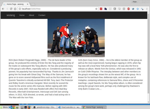 An ASP.Net MVC Site on Linux